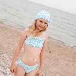 bikini y gorro a juego niña pequeña