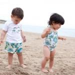 conjunto boxer, bañador y camiseta bebe